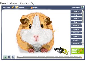 how to draw a guinea pig drawing now animation screenie